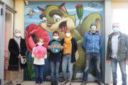 Une fresque à l'accueil périscolaire de Rouillé !